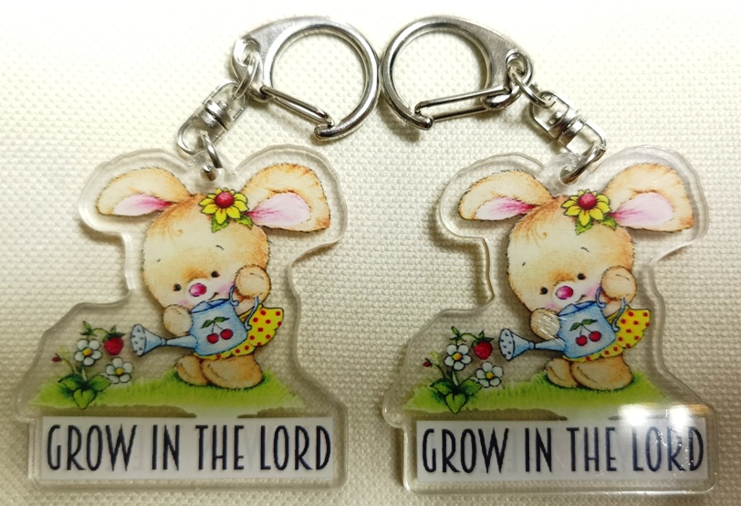 Double Sided GROW IN THE LORD Acrylic Keychain