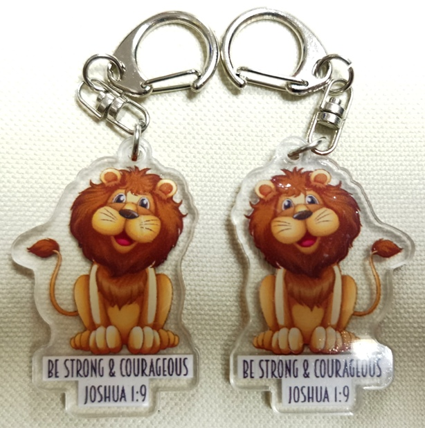 Double Sided BE STRONG Acrylic Keychain