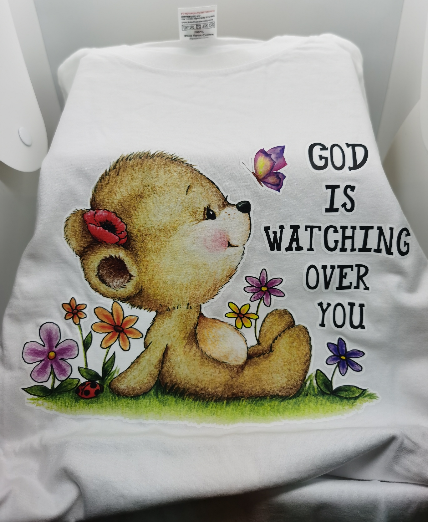 GOD IS WATCHING OVER ME TEE SHIRT