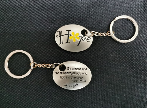 HOPE Oval Shape Keychain