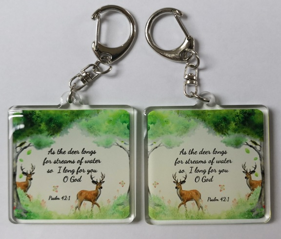 Double Sided Deer Acrylic Keychain