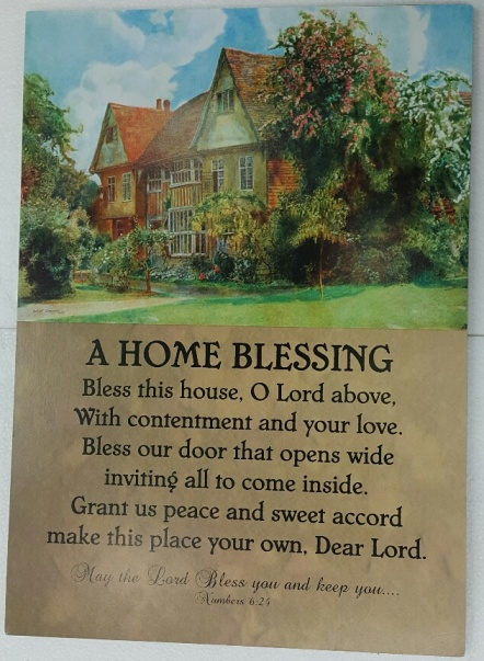 A3 Plaque A HOME BLESSING