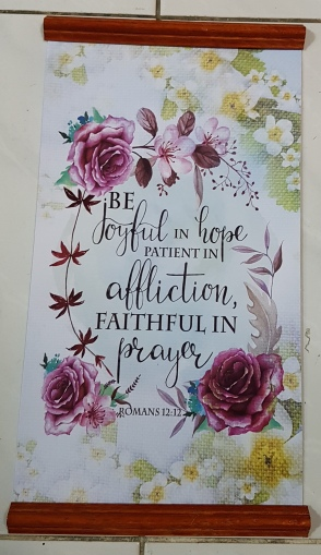 Inspirational Scroll - Be Joyful In Hope