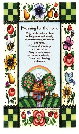 Inspirational Scroll - Blessing For The Home