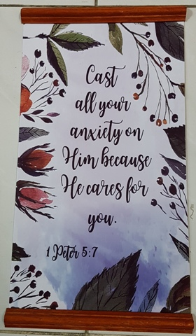 Inspirational Scroll - Cast All Your Anxiety