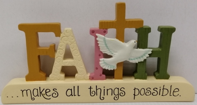 Table top mini polyresin FAITH
