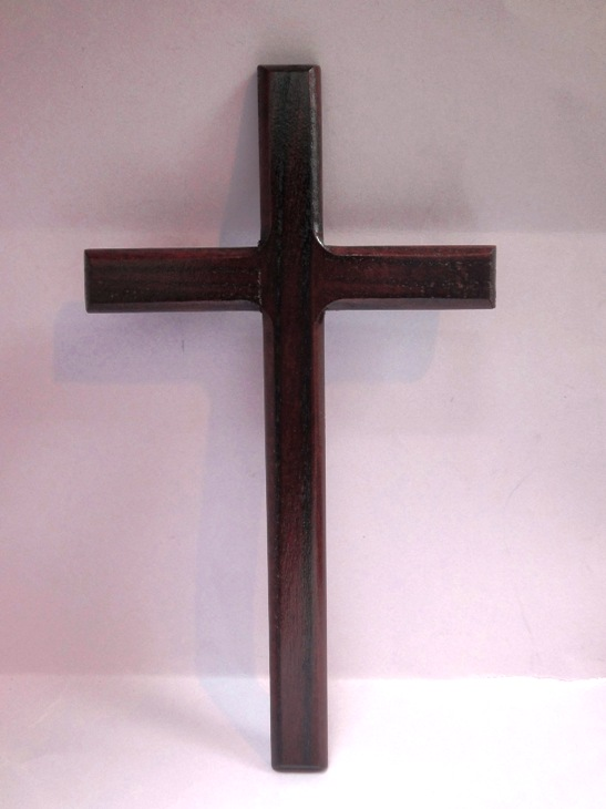 23cm Wooden Cross (Flat)