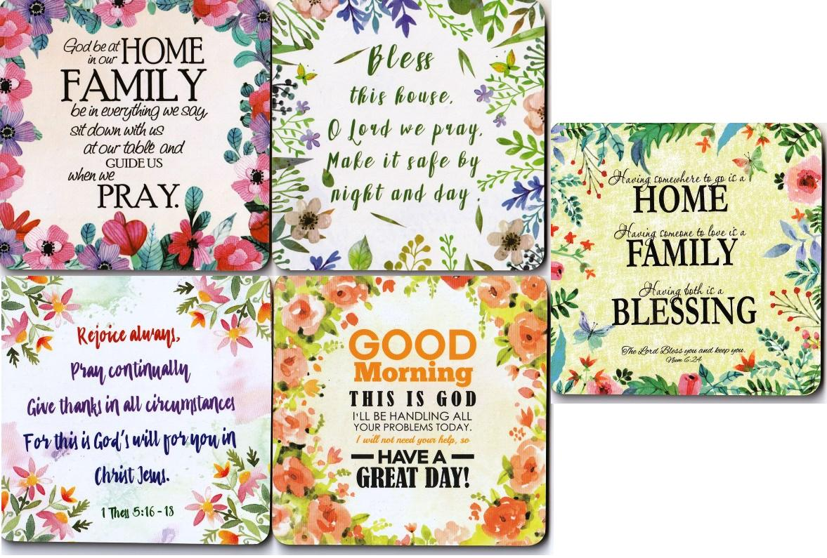 HOME SERIES COASTER SET OF 5