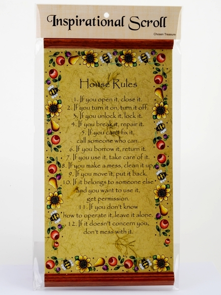 Inspirational Scroll - House Rules