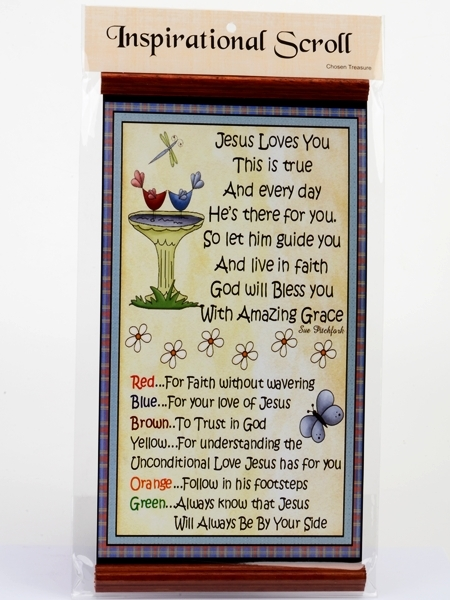 Inspirational Scroll - Jesus Loves You