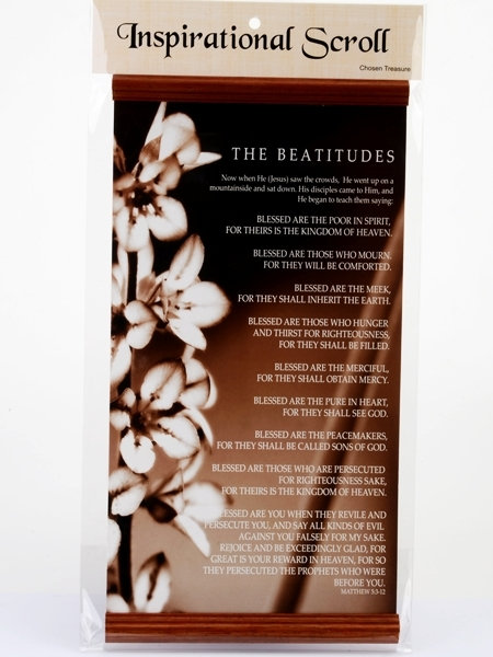 Inspirational Scroll - The Beatitudes