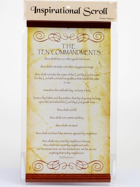 Inspirational Scroll - The Ten Commandments