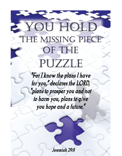 You hold the missing piece