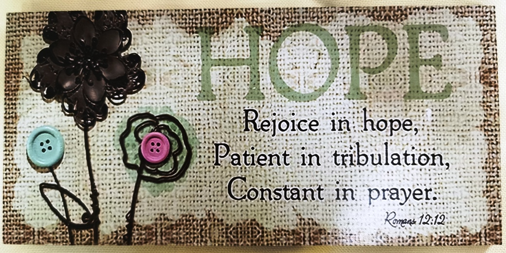 Mdf Plaque - RECTANGLE -REJOICE IN HOPE