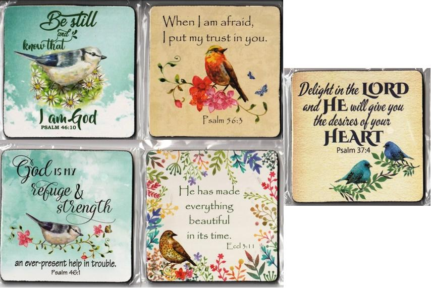 BIRD SERIES 2 COASTER DELIGHT IN THE LORD SET OF 5