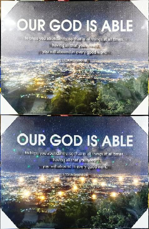 Led Frame - Our God is Able