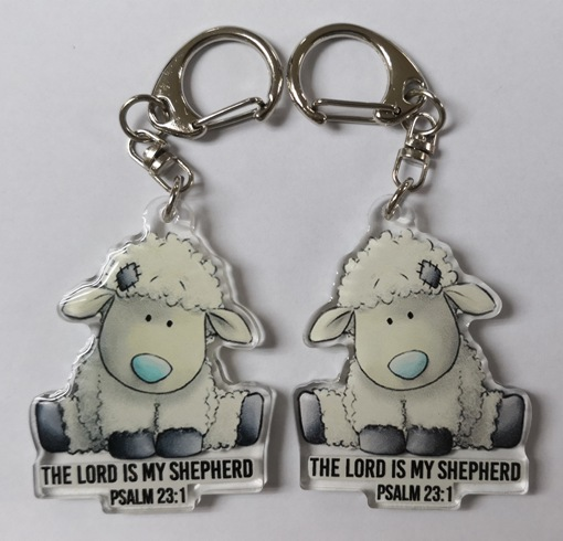 Double Sided Lamb Acrylic Keychain