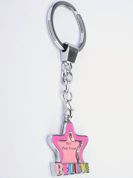 BELIEVE Mini Picture Frame Keychain