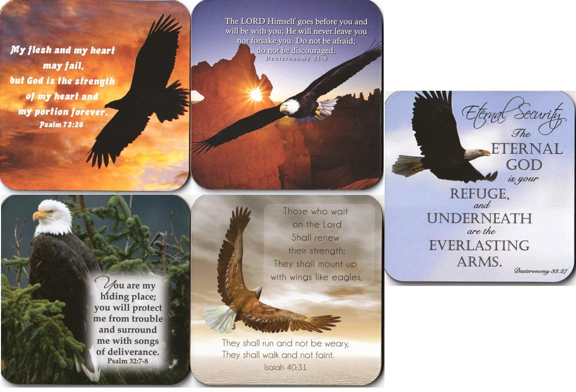 EAGLE SERIES COASTER ETERNAL SECURITY SET OF 5