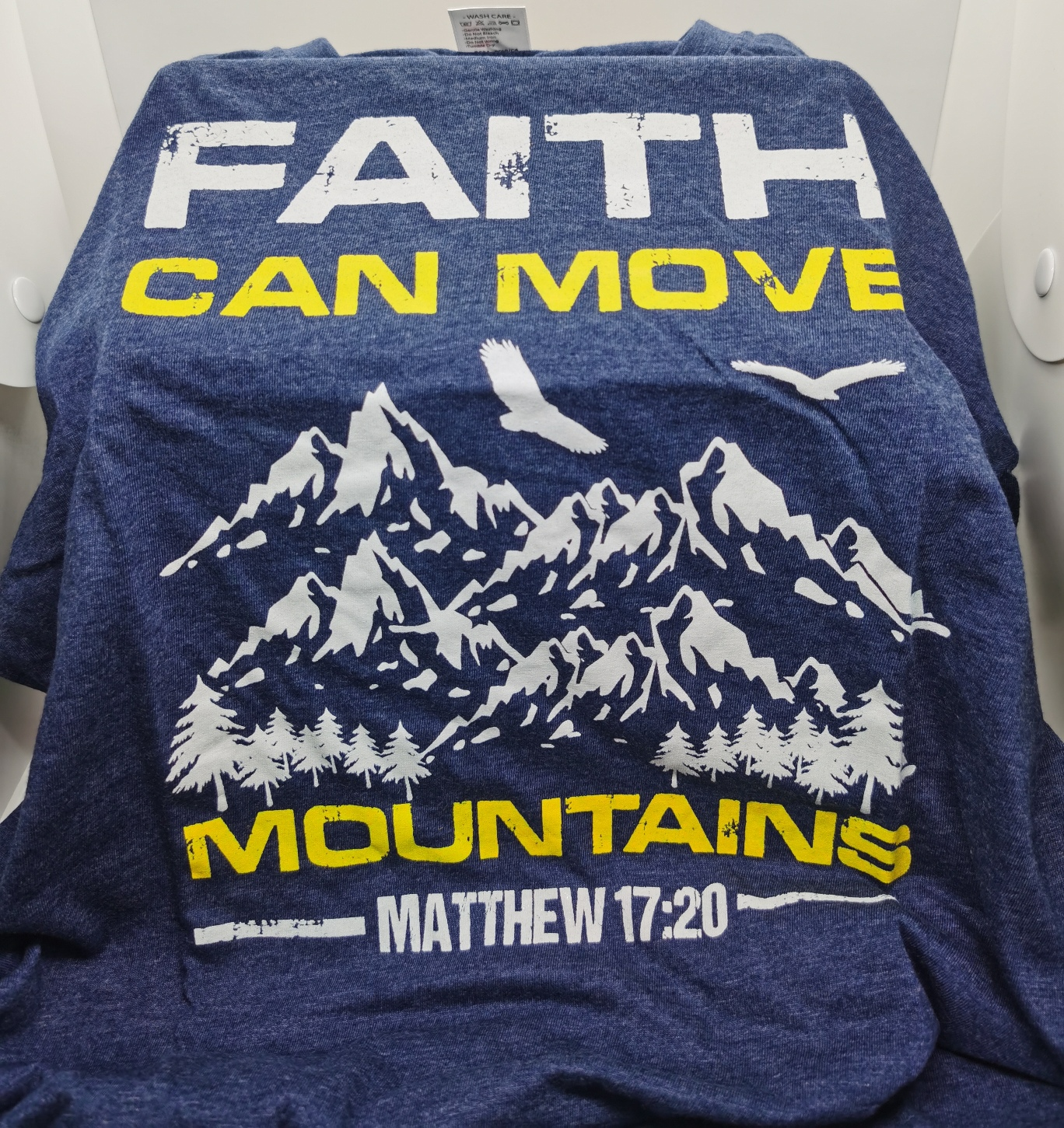 FAITH CAN MOVE MOUNTAIN TEE SHIRT