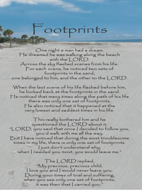 Inspirational Scroll - Footprints
