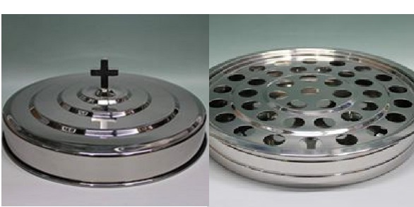 Stainless Steel Communion Tray and Cover