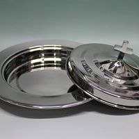 Stainless Steel Bread Plate and Cover