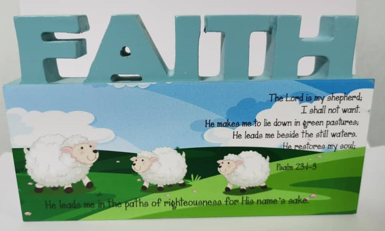 3D Mdf Wood Plaque - Faith
