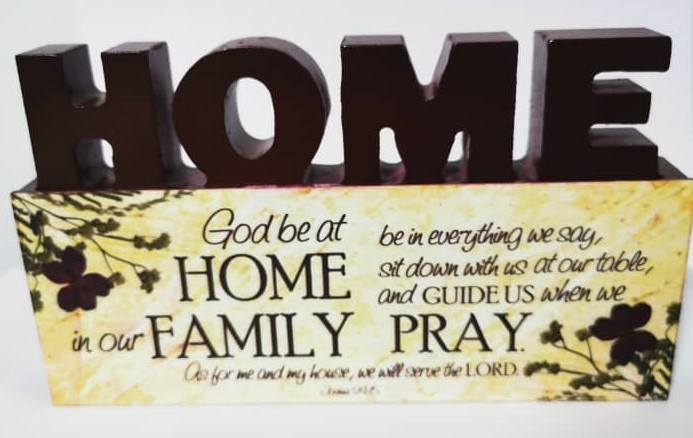3D Mdf Wood Plaque - Home